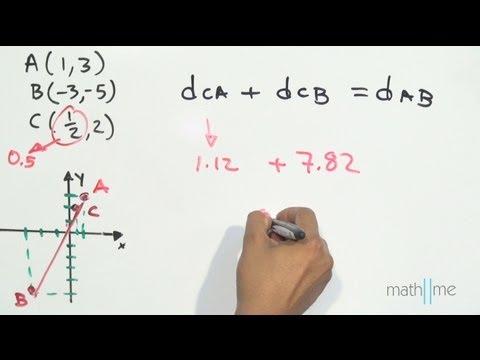 Drei Punkte kollinear (Abstand zwischen 2 Punkten)
