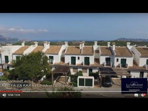 Красивый дом в городе Полоп с видом на горы, побережье Коста Бланка