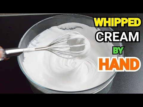 HOW TO WHIP CREAM WITHOUT ELECTRIC MIXER | Whipping Cream Banany Ka Tareka By YES I CAN COOK