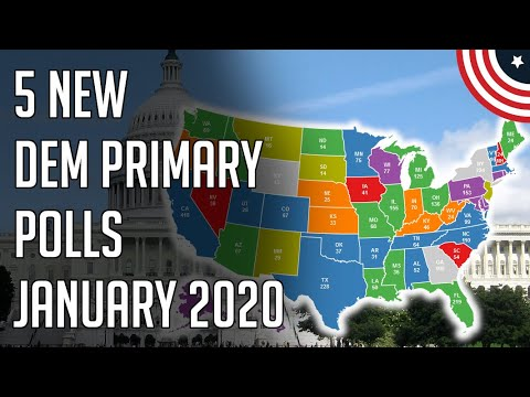 5 New 2020 Democratic Primary Polls - Close Race Continues - January 2020