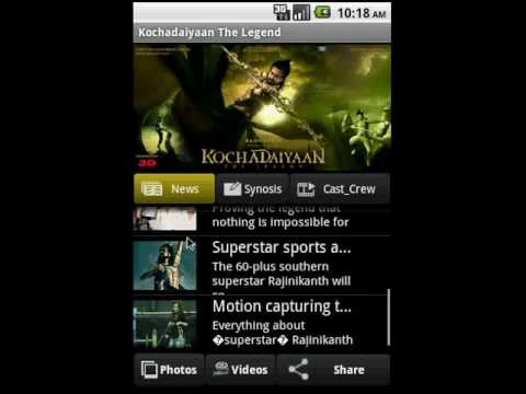 Video of Kochadaiyaan The legend