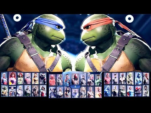 Injustice 2 All Characters Unlocked / ALL DLC CHARACTERS COMPLETE ROSTER + Ninja Turtles