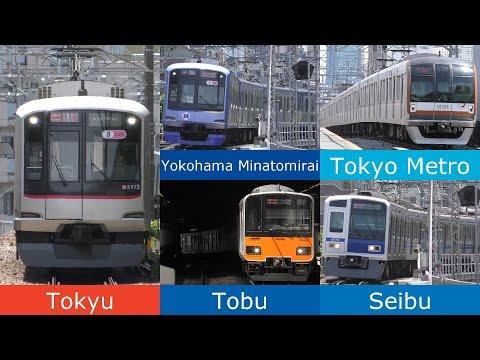 4K 5社7車種 東急東横線高速通過集/5 railway trains high-speed pass in Toyoko Line/2016.06.04