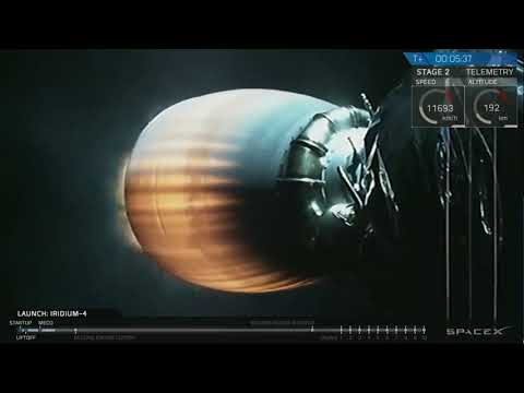 Launch of Space-X Falcon 9 Iridium Next 31-40 Communications Satellites On Reused Rocket