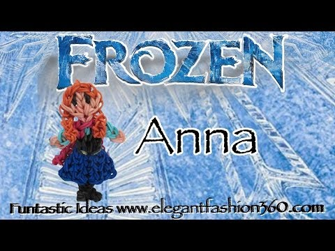 Rainbow Loom Princess Anna (Frozen) Figure/Charm – How to
