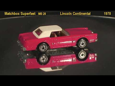 Custom Paint Lincoln Continental  - Matchbox Cars