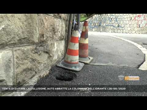 TENTA DI EVITARE LA COLLISIONE, AUTO ABBATTE LA COLONNINA DELL'IDRANTE   28/09/2020