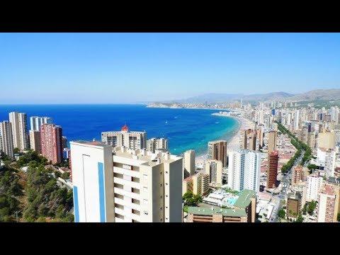Квартира в Бенидорме с видом на море и город, 250м от моря в тихом районе!