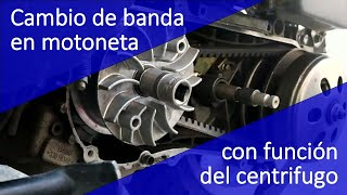 3. CENTRIFUGO Y CAMBIO DE BANDA EN MOTONETA 125, 150 y 175 DE ITALIKA