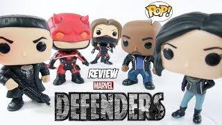 Review da coleção completa de bonecos Funko POP da nova série da Netflix Os Defensores - The Defenders. São 5 figuras de...
