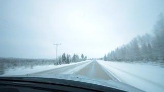 Pudasjarvi Finland  city photos gallery : Winter drive - Finland, Pudasjärvi - Taivalkoski