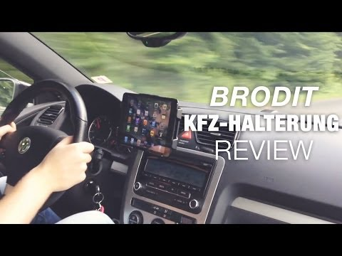 Brodit iPad mini KFZ-Halterung: Test / Review (Deutsch)