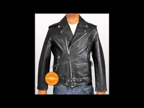 Brando Motorcycle Black Leather Jacket - Celebswear.com