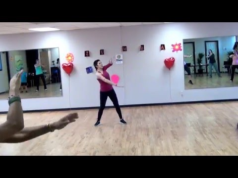 Zumba Fitness. Upper body workout. Rihanna-Diamonds. By Olga Chin