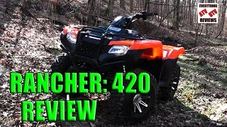 9. Honda Rancher 420 4X4: Test Review: Latest Generation 2014-2016 Rancher Offroad Limits