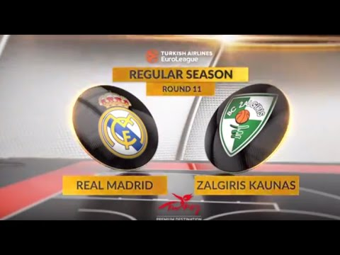 EuroLeague Highlights RS Round 11: Real Madrid 96-91 Zalgiris Kaunas