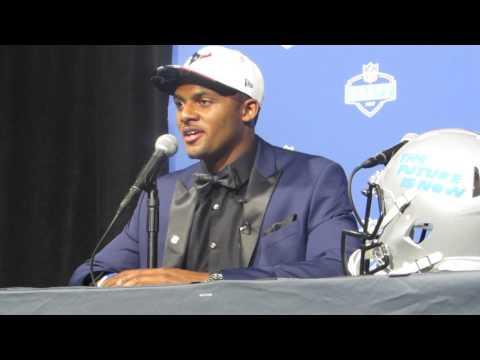 Deshaun Watson FULL 2017 NFL Draft post-draft press conference (Houston Texans) (видео)