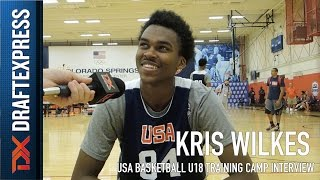 Kris Wilkes USA Basketball U18 Training Camp Interview