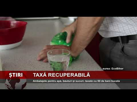 Propunere de introducere a unei taxe returnabile, pentru ambalajele de apă, sucuri și băuturi