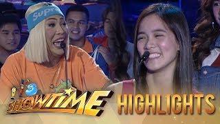 Video It's Showtime PUROKatatawanan: Vice Ganda almost breaks Jackque's joke MP3, 3GP, MP4, WEBM, AVI, FLV Agustus 2018