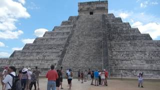 A really neat twanging sound caused by clapping your hands near the base of the stairs at the main pyramid of Chichén Itzá.