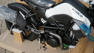 10. Kymco K-Pipe 125 unboxing/uncrating and assembly time lapse