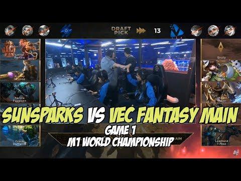 Sunsparks Vs Vec Fantasy Main Game 1 M1