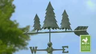 Pine Trees Weathervane - Blue Verde Copper - Good Directions