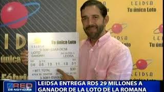 Leidsa entrega RD$ 29 millones a ganador de la loto de La Romana