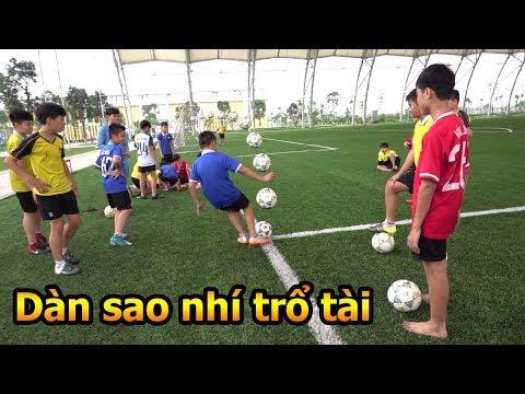 Thử Thách Bóng Đá thi sút xoáy với các Ronaldo Messi nhí tương lai của U23 Việt Nam tại PVF - Thời lượng: 10 phút.