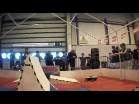 Flying Toys Parrot AR.Drone 2.0 Films R/C Car Stunts at the Gadget Show Live 2012