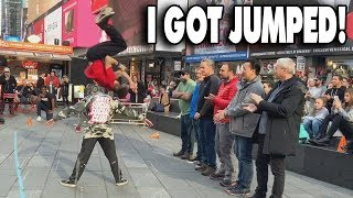 I GOT JUMPED IN TIMES SQUARE!!!