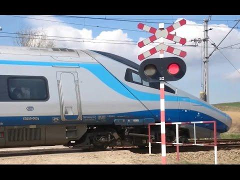 3 Pociągi - 2x Pendolino i Impuls na przejazdach kolejowych w Zastowie i Maciejowicach 1xRp1