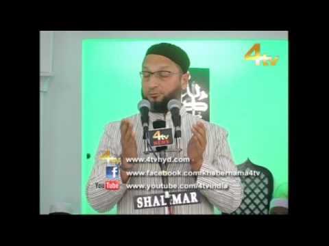 Asaduddin Owaisi Addressing Jalsa Youmul Quran at Masjid-e-Umar Farooq r.a (Sheikhpet) 24-06-2016
