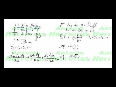 Introducción a las Leyes de Kirchhoff y Resolución de circuito aplicando la 1ª Ley.mp4