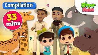 Video Compilation | Everything Belongs to Allah 33 Mins | Omar & Hana | Nasheed for Kids MP3, 3GP, MP4, WEBM, AVI, FLV Maret 2019