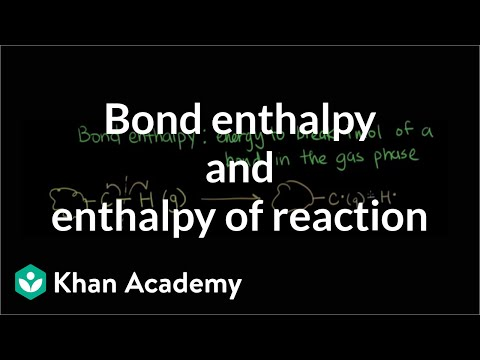 Bond Enthalpy And Enthalpy Of Reaction Video Khan Academy