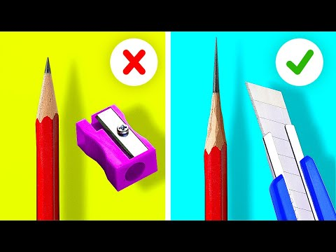 40 BRILLIANT SCHOOL HACKS || 5-Minute Tips For Smart Students