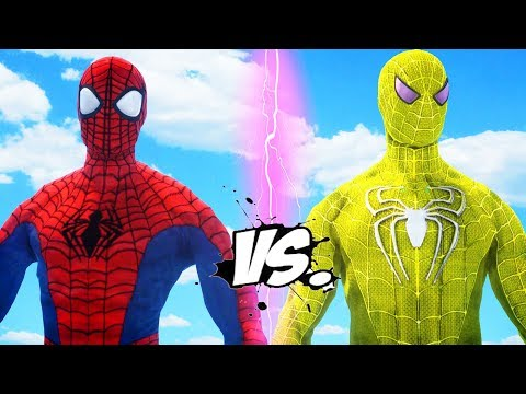 Ultimate Spiderman Vs Yellow Spider-man