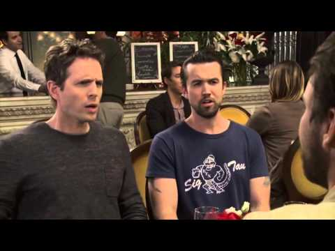 Always Sunny - The gang struggles to get through the 'cream pie' scene...