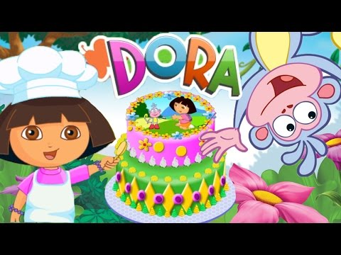 Dora Cake Decor Online Game! | Bake A Birthday Cake With Dora The Explorer!