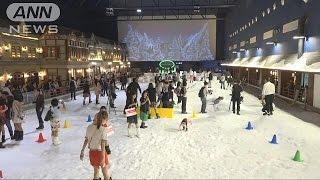 """バンコクに""""雪のテーマパーク""""登場 小樽の街並み"""