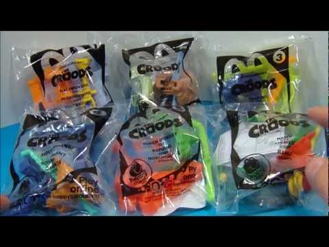McDONALD'S THE CROODS HAPPY MEAL MOVIE TOYS FULL SET 1-6 REVIEW