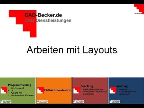 AutoCAD: Layouts erstellen
