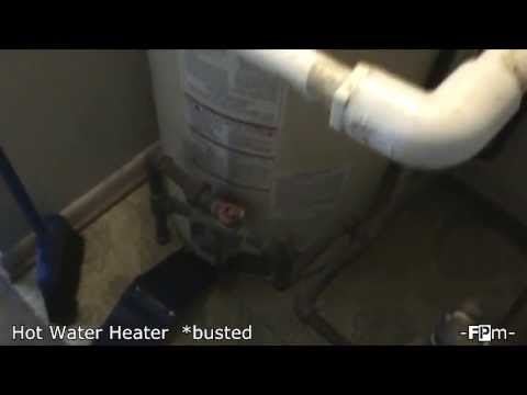How to stop leaking water from a busted hot water heater.