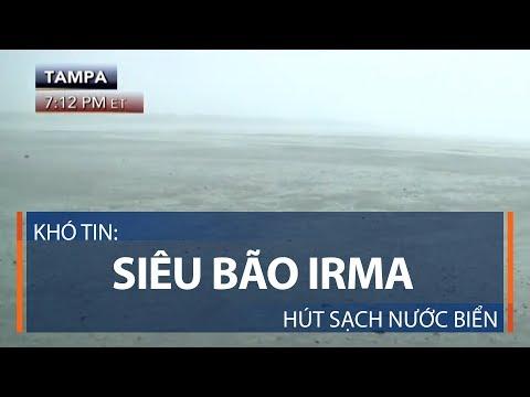 Khó tin: Siêu bão Irma hút sạch nước biển | VTC1 - Thời lượng: 101 giây.