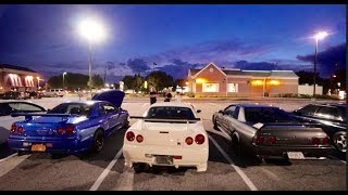mondays suck meet with grant.the bayside blue R34 is running an rb34 big boi engine GET YOUR JDM SITUATION STICKERS!!!www.tommyfyeah.bigcartel.comfollow me on instagram @tommyfyeah