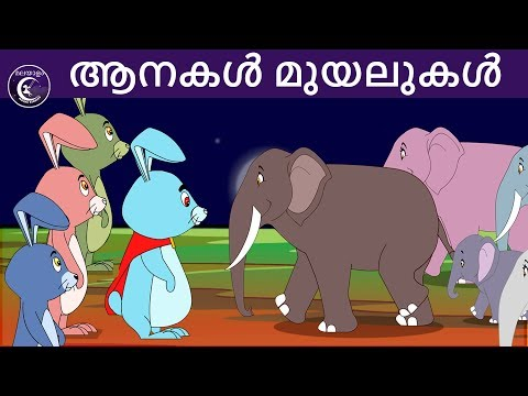 ആനകൾ മുയലുകൾ | Malayalam Fairy tales | malayalam moral stories for kids