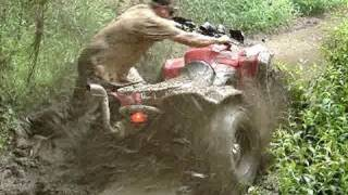8. 2010 CAN AM RENEGADE 800R 4X4 STUCK DEEP & BLASTIN OUTTA THE MUD!!