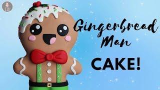 Kawaii Gingerbread Man Cake Tutorial!| Christmas Cakes